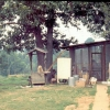 Llano long ago, well, screened porch, swing.