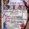 Beltane event poster.