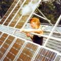 Changing solar collector tilt