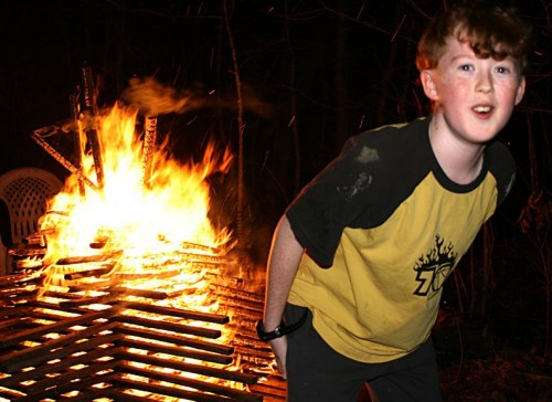 Rowan at bonfire